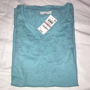 NWT Charter Club  Angel Blue Blouse size 1X